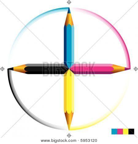 CMYK Bleistifte