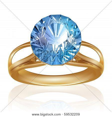 Diamond Shiny bright ring. Vector
