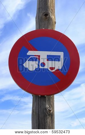 No Campervans Or Motorhomes Sign