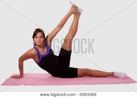 Girl doing