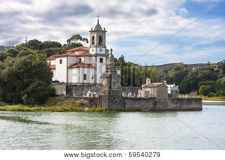 Church And Cemetery Of Los Dolores, Asturias, Spain.