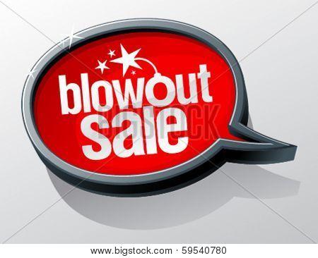 Blowout sale speech bubble