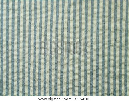 Blue seersucker fabric