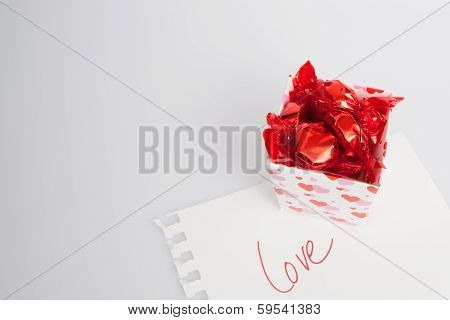 Box Of Candy With Love Note