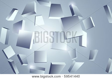 Abstract object fragments background. EPS 10 format.