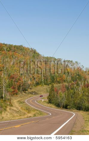 Curved Road ,fall Colors