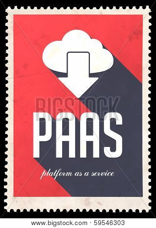 PAAS Concept on Red Color in Flat Design.