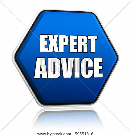 Expert Advice In Blue Hexagon