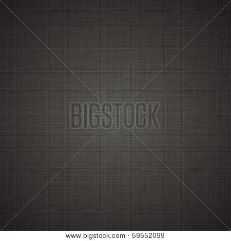 Realistic black linen texture pattern. Black seamless linen background texture. Seamless texture of black cloth. Vector illustration. Vector eps10.