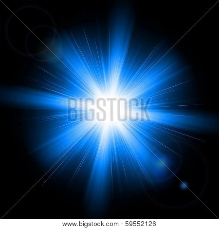Abstract image of lighting flare. Vector illustration