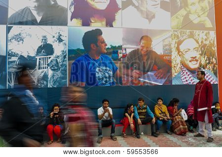 Visitors At Kolkata Book Fair - 2014.