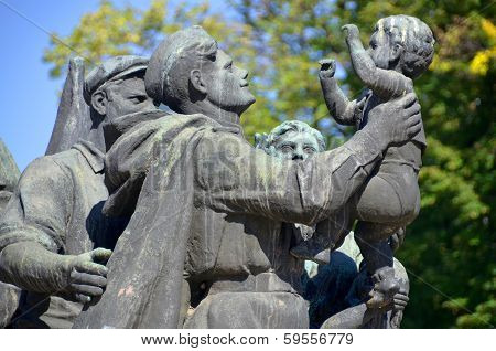 Details of Soviet Army monument