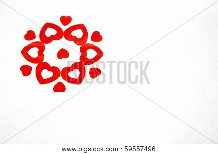 Red Hearts Flower