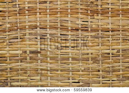 Woven Wood Wicker Background