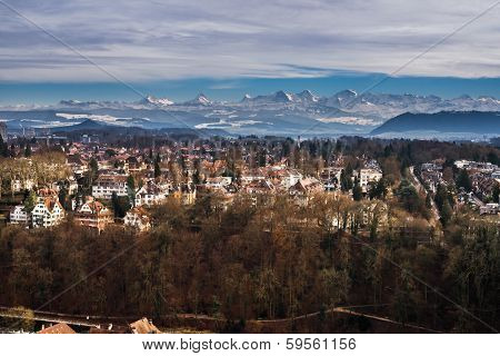 Mountains above Bern city