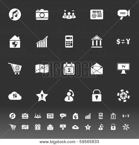 Smart Phone Icons On Gray Background