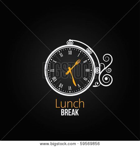 lunch clock concept design background