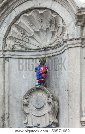 Manneken Pisin Brussels, Belgium.