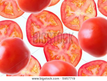 Segments of tomatoes