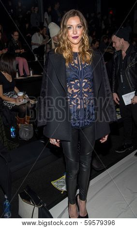 NEW YORK-FEB 9: Actress Katie Cassidy attends the Lela Rose fashion show during Mercedes-Benz Fashion Week at the Salon at Lincoln Center on February 9, 2014 in New York City.