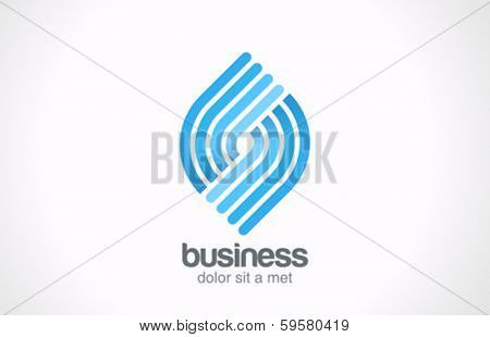 Abstract Business Technology Spiral shape vector logo design template. Cycle looped figure. Infinity symbol such as logotype. Spiral abstract concept.