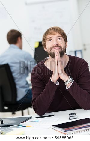Businessman Offering Up A Prayer