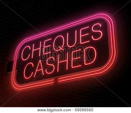 Cheques Cashed Concept.