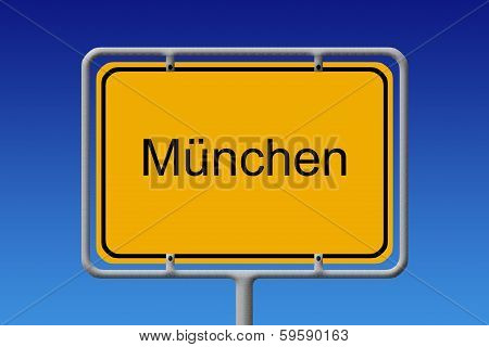 City Sign Munich