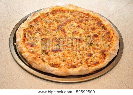 Whole Homemade Cheese Pizza