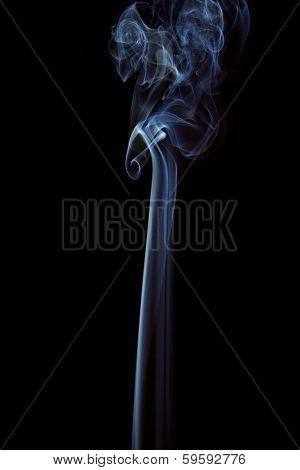 Weißer Rauch Auf Schwarzem Hintergrund - White Smoke On Black Background