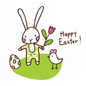 image of easter card  - Easter bunny card - JPG