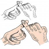 picture of pinky  - An image of a pinky swear handshake - JPG