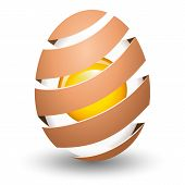 picture of yolk  - Abstract egg with yolk on white background - JPG
