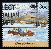 Postage Stamp Australia 1987 First Fleet At Tenerife
