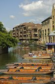 Punts in Cambridge, England
