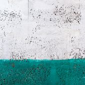 foto of stippling  - Green and white painted wall texture - JPG