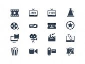 stock photo of tv sets  - Film industry icons - JPG