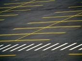 image of parking lot  - An empty parking lot with a grunge look - JPG