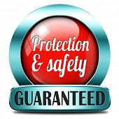pic of personal safety  - protection and safety first red label or sign protect data privacy and personal info security guaranteed - JPG