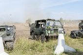 BORNE SULINOWO, POLAND - AUGUST 16: Presentation of historic military vehicles on