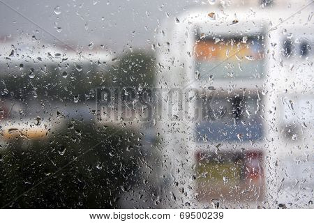Rainy Window Glass