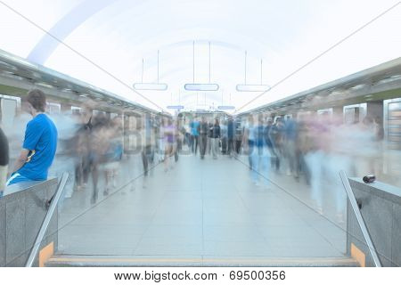 City Traffic In The Subway