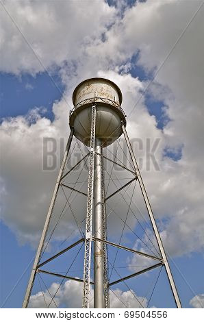 Small town old water tower