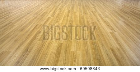 solid planks of oak timber on a empty wood floor