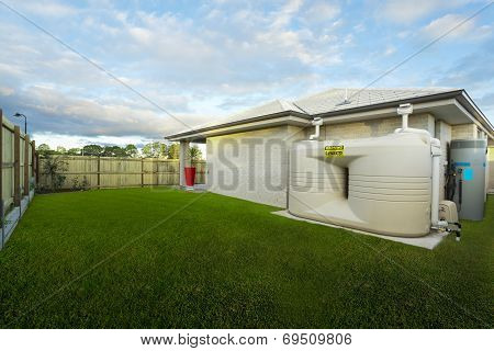 Backyard With Water Tank