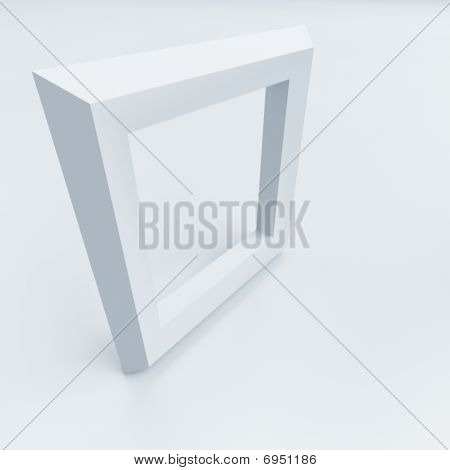 white square frame