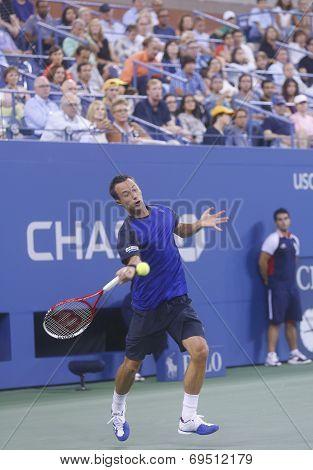 Philipp Kohlschreiber during  fourth round match at US Open 2013 against Rafael Nadal