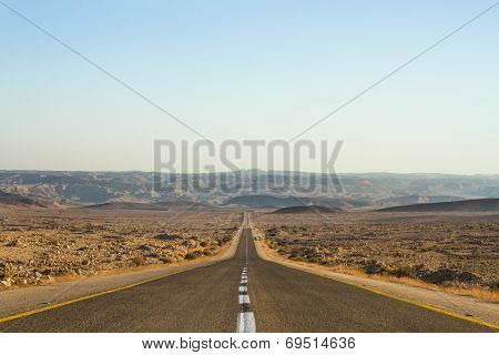 Beautiful Road In The Desert