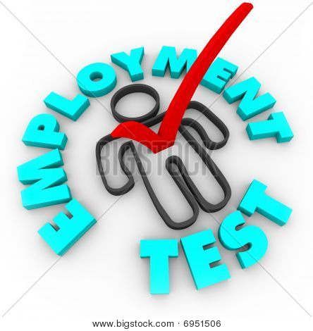 Employment Test - Check Mark And Box