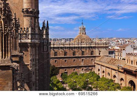 Cathedral La Giralda At Sevilla Spain